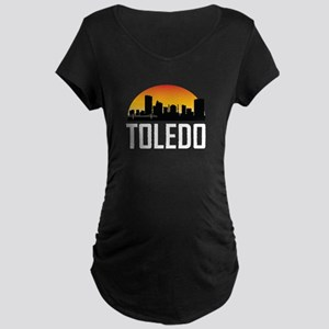 Sunset Skyline of Toledo OH Maternity T-Shirt