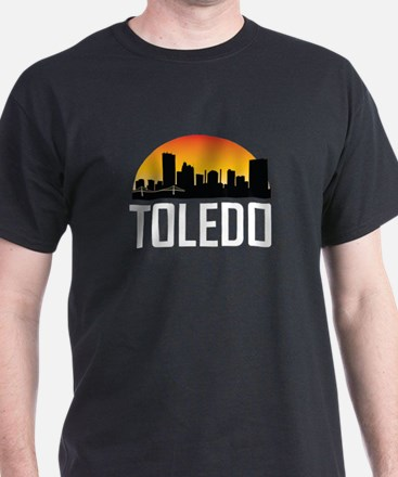 Sunset Skyline of Toledo OH T-Shirt