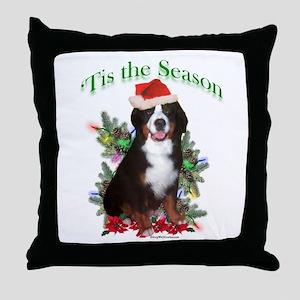 Bernese 'Tis Throw Pillow