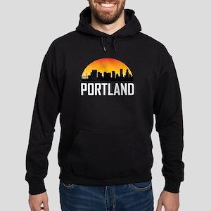 Sunset Skyline of Portland OR Hoodie
