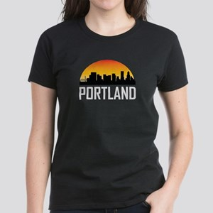 Sunset Skyline of Portland OR T-Shirt