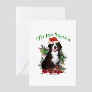 Bernese 'Tis Greeting Card