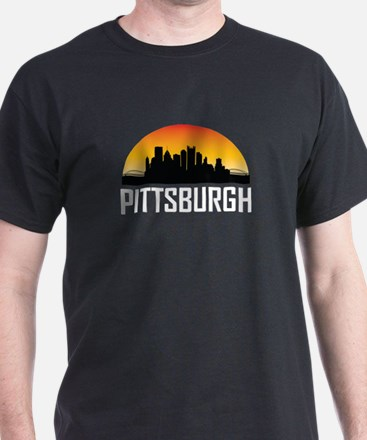 Sunset Skyline of Pittsburgh PA T-Shirt