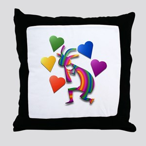 One Kokopelli #53 Throw Pillow