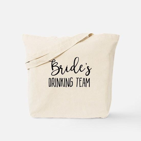 Bride's Drinking Team Bridal Party Tote Bag