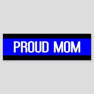 Police: Proud Mom (Thin Blue Line Sticker (Bumper)