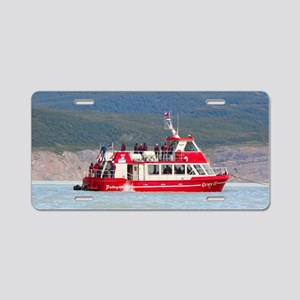 Boat on Lago Grey, Patagoni Aluminum License Plate