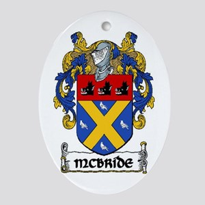 McBride Coat of Arms Ornament (Oval)