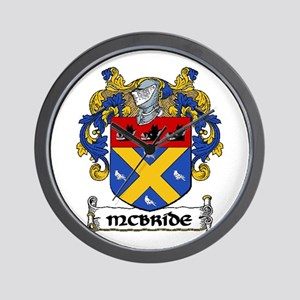 McBride Coat of Arms Wall Clock