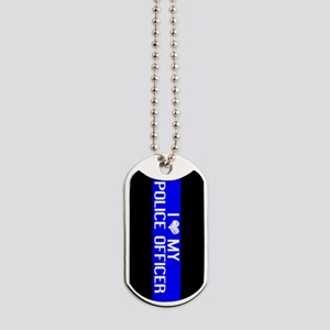 Police: I Love My Police Officer (Thin Bl Dog Tags