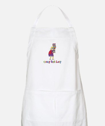 Crazy Book Lady BBQ Apron