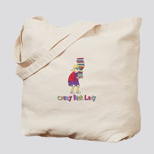 Crazy Book Lady Tote Bag