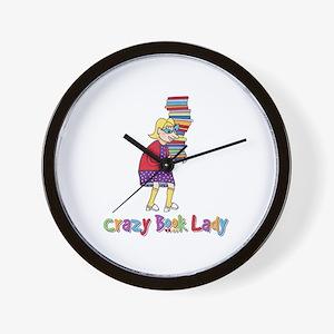Crazy Book Lady Wall Clock