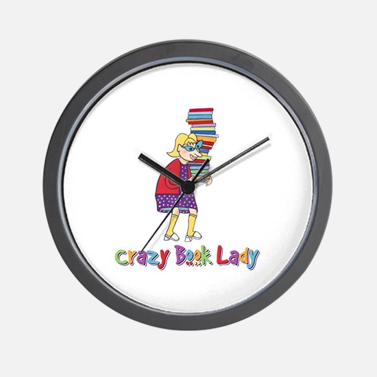 Crazy Book Lady Wall Clock