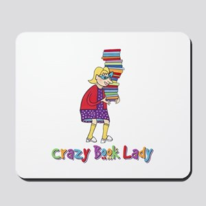 Crazy Book Lady Mousepad