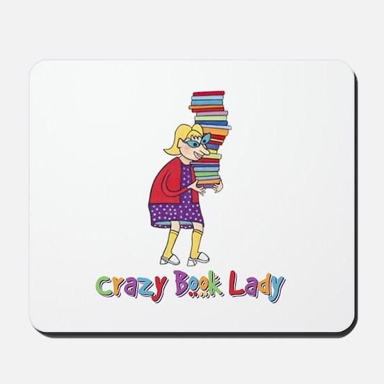 Crazy Book Lady Mousepad