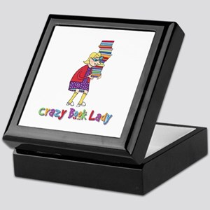 Crazy Book Lady Keepsake Box