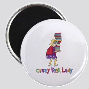Crazy Book Lady Magnet