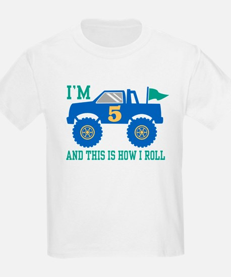 5th Birthday Monster Truck T-Shirt