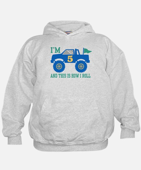 5th Birthday Monster Truck Hoodie