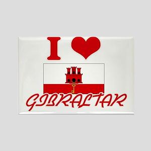 I Love Gibraltar Magnets