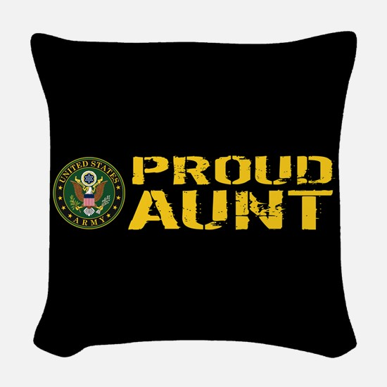 U.S. Army: Proud Aunt Woven Throw Pillow