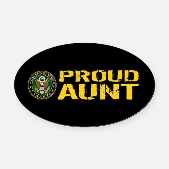 U.S. Army: Proud Aunt Oval Car Magnet