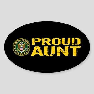 U.S. Army: Proud Aunt Sticker (Oval)