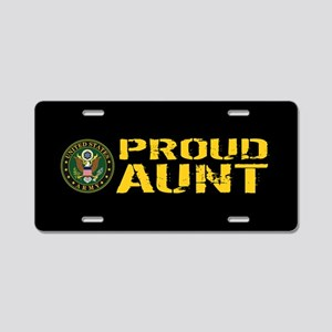 U.S. Army: Proud Aunt Aluminum License Plate