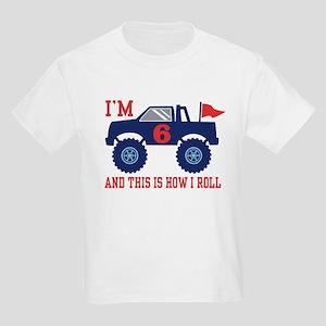 6th Birthday Monster Truck Kids Light T-Shirt