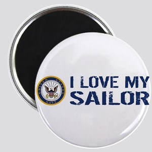U.S. Navy: I Love My Sailor (Blue & White) Magnet