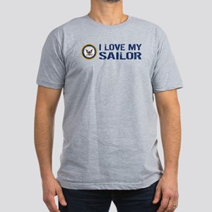 U.S. Navy: I Love My Sailor (Blue & White) T-Shirt