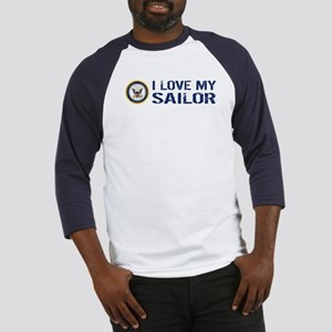 U.S. Navy: I Love My Sailor (Blue & White) Basebal