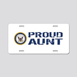 U.S. Navy: Proud Aunt (Blue Aluminum License Plate