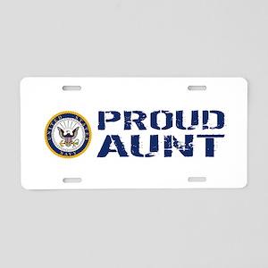 U.S. Navy: Proud Aunt (Blue Aluminum License Plate
