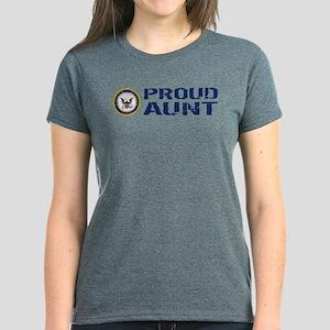 U.S. Navy: Proud Aunt Women's Dark T-Shirt
