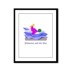 Princess and the pea Framed Panel Print