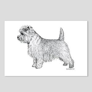 Cairn Terrier side Postcards (Package of 8)