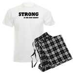 Strong is The New Skinny Men's Light Pajamas