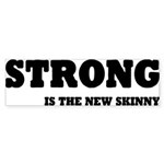 Strong is The New Skinny Sticker (Bumper 10 pk)