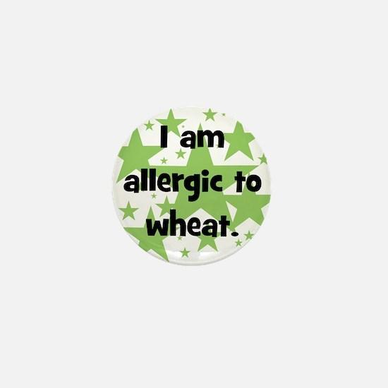 Allergic to Wheat - stars Mini Button