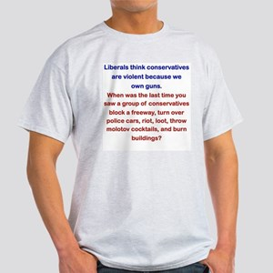 LIBERALS THINK CONSERVATIVES... T-Shirt