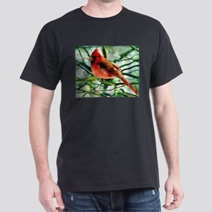 Cardinal Oil Style Painting Dark T-Shirt