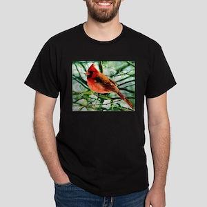 Cardinal Oil Style Painting Dark T-Shirt