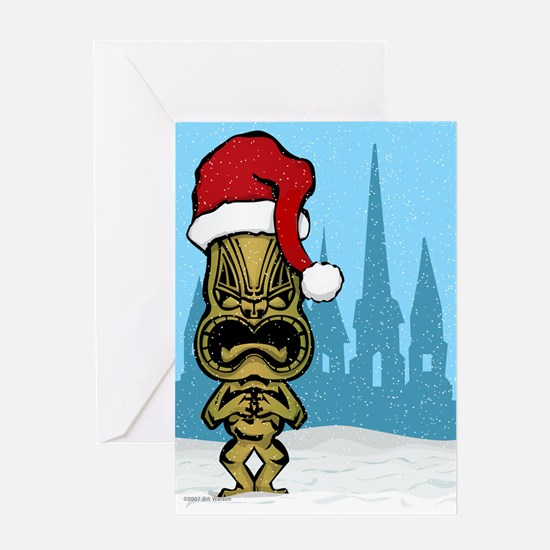 Forget snow and pine trees. Tiki Greeting Card
