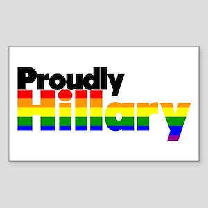 Proudly Hillary Rainbow Sticker