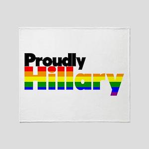 Proudly Hillary Rainbow Throw Blanket