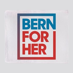 BernForHer Logo Throw Blanket