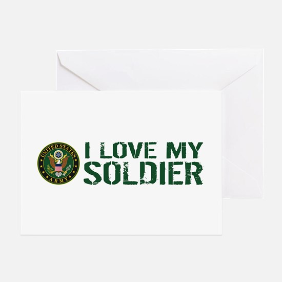 U.S. Army: I Love My Soldier (Green Greeting Card