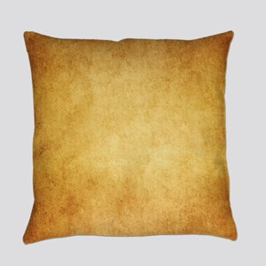 Yellow Brown Parchment Paper Textu Everyday Pillow